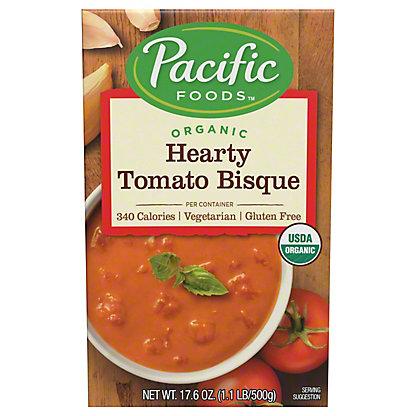 Pacific Foods Organic Hearty Tomato Bisque, 17.6 oz