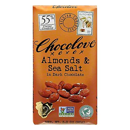 Chocolove Almonds & Sea Salt Dark Chocolate Bar,3.2 OZ