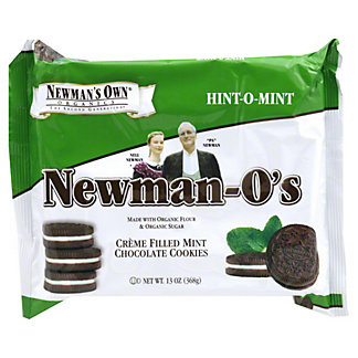 Newmans Own Organics Newman-os Creme Filled Mint Chocolate Cookies, 13 OZ