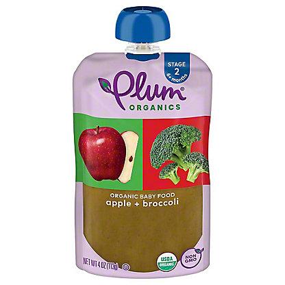 Plum Organics Stage 2 Broccoli & Apple Baby Food, 4 oz