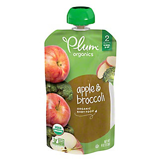 Plum Organics Stage 2 Broccoli & Apple Baby Food, 4 oz