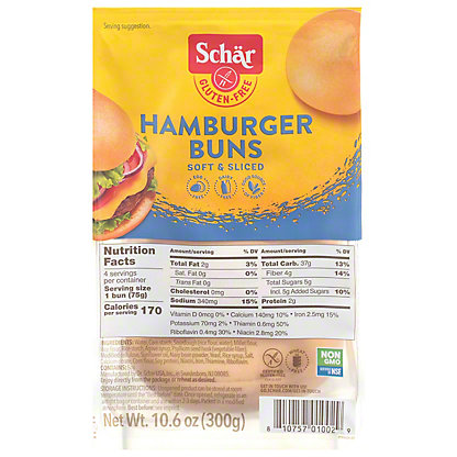 Schar Hamburger Buns,4 ct