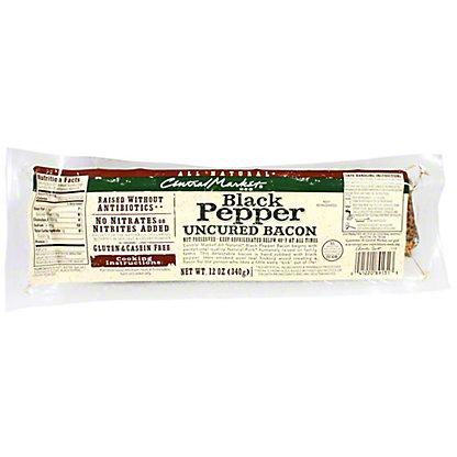 Central Market Natural Uncured Black Pepper Bacon, 12 oz