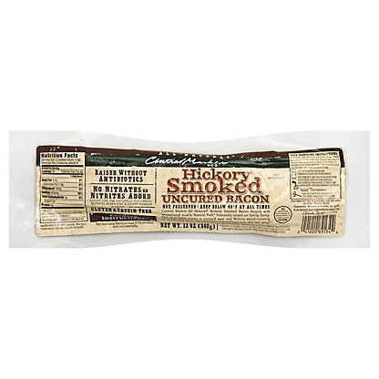 Central Market Natural Uncured Hickory Smoked Bacon, 12 oz