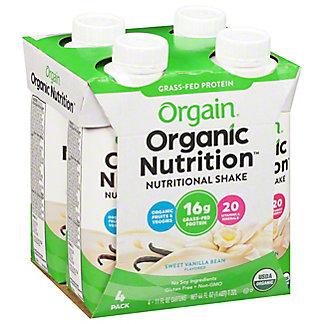 Orgain Sweet Vanilla Bean Organic Nutritional Shakes, 4 CT - (11 OZ)