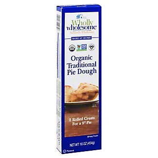 Wholly Wholesome Bake At Home Traditional Pie Dough, 16 oz