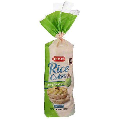 H-E-B Select Ingredients Apple Cinnamon Rice Cakes, 6.52 oz