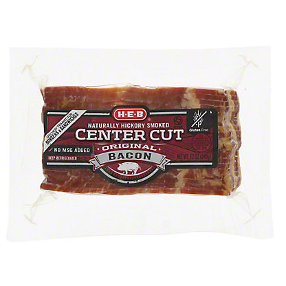 H-E-B Center Cut Hickory Smoked Bacon for Burgers,12 oz