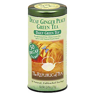 The Republic of Tea Decaf Ginger Peach Green Tea Bags, 50 ct