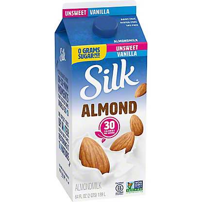 Silk Unsweetened Vanilla Almondmilk, 1/2 gal