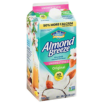 Blue Diamond Almond Breeze Unsweetned Original,1/2 GAL