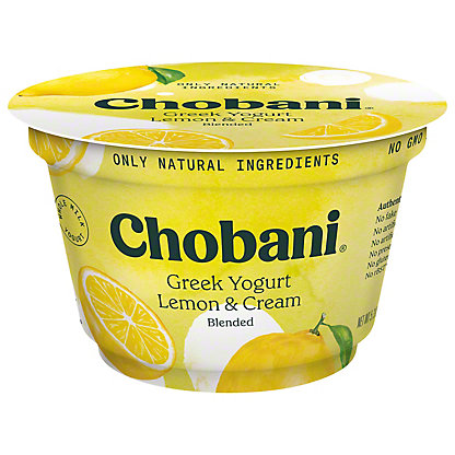 Chobani Lemon & Cream Blended Whole Milk Greek Yogurt, 5.3 oz