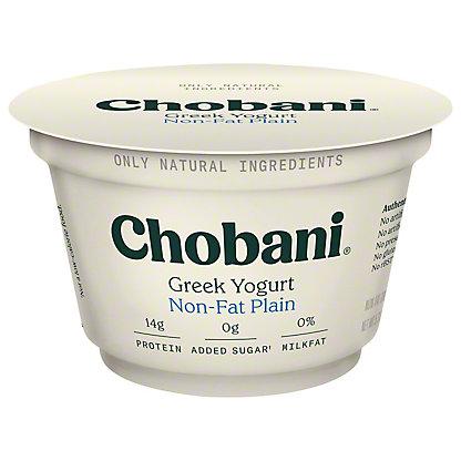 Chobani Non-Fat Plain Greek Yogurt, 5.3 oz