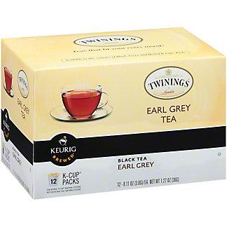 Twinings Early Grey Black Tea Single Serve K Cups, 12 ct