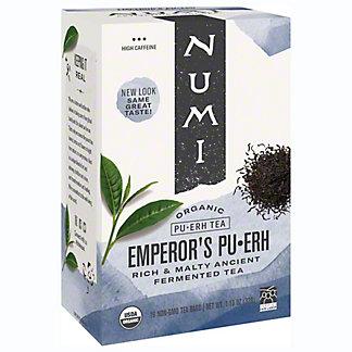Numi Numi Organic Teas Emperors Pu-erh Tea Bags, 16 ea