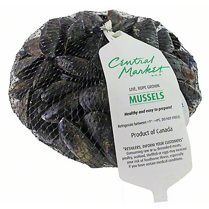 Live Black Mussels, 2 LBS