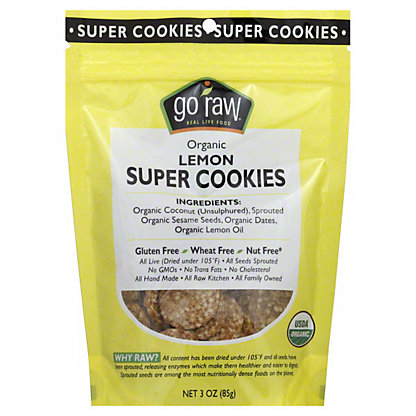Go Raw Lemon Super Cookies, 3 OZ