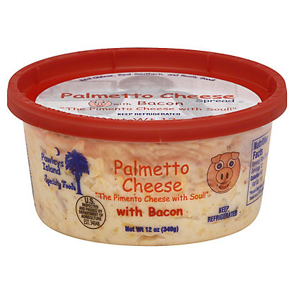 Pawleys Island Specialty Foods Get Carried Away Palmetto Cheese Bacon,12 OZ