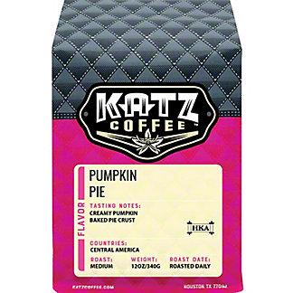Katz Coffee Pumpkin Pie Whole Bean Coffee, 12 oz