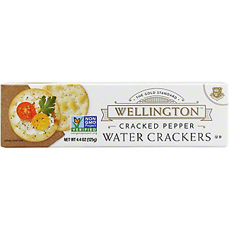 Wellington Cracked Pepper Water Crackers,4.4 Z
