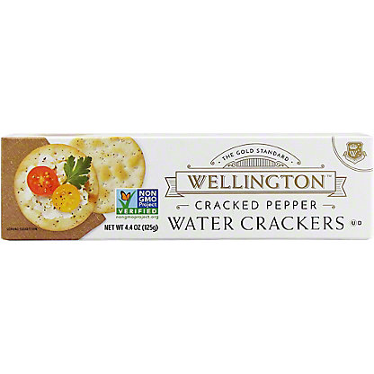 Wellington Cracked Pepper Water Crackers,4.4 Z