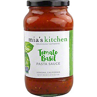 Mia's Kitchen Tomato and Basil Pasta Sauce, 25.50 oz