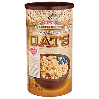 H-E-B Select Ingredients Old Fashioned Oats, 42 oz