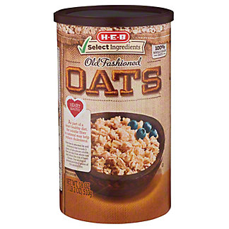 H-E-B Select Ingredients Old Fashioned Oats, 18 oz