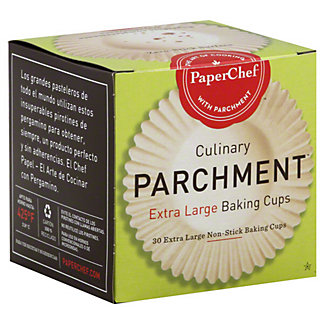Paper Chef XLG Culinary Parchment Baking Cups,30 CT
