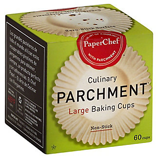 PaperChef Culinary Parchment Large Baking Cups,60 CT