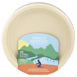 World Centric 9in Fiber Plates,20 CT