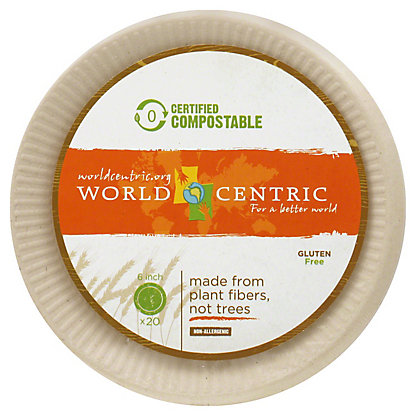 World Centric 6in Plate,20 CT