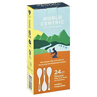 World Centric Corn Starch Spoons,24 CT