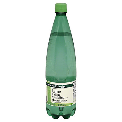 Central Market Lime Italian Sparkling Mineral Water, 33.8 oz