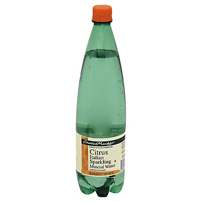 Central Market Citrus Italian Sparkling Mineral Water, 33.8 oz