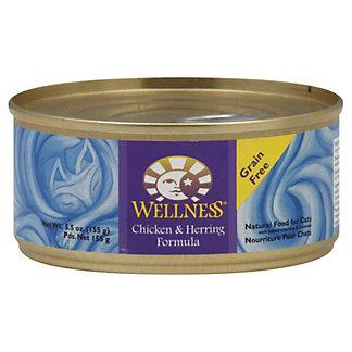 Wellness Chicken Herring Cat Food,5.5 OZ