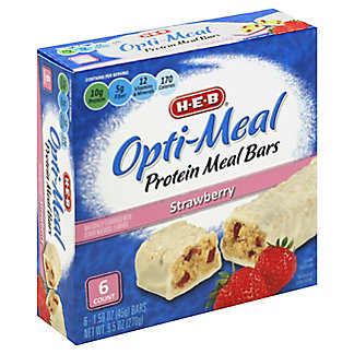 H-E-B Opti-Meal Protein Meal Bars Strawberry, 6 ct