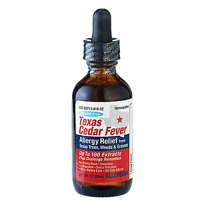 Allergena Alcohol Free Texas Cedar Fever Allergy Relief Drops, 2 oz