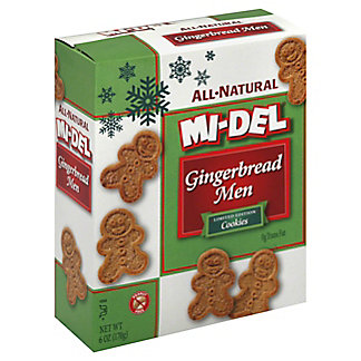 Mi-Del All Natural Gingerbread Men Cookies,6.00 oz