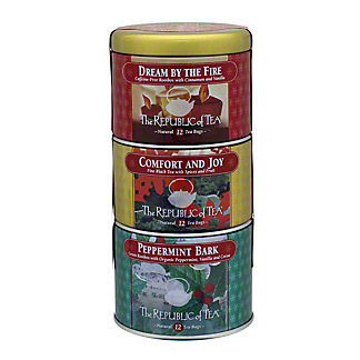 The Republic of Tea Holiday Variety Tea Bags in Stackable Tin,36 CT