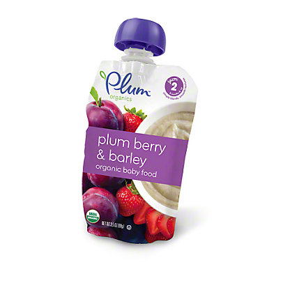 Plum Organics Stage 2 Baby Food, Plumberry & Barley, 3.5 oz