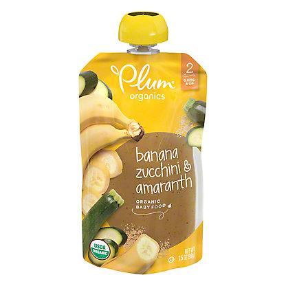 Plum Organics Stage 2 Zucchini Banana and Amaranth  Baby Food, 3.5 oz