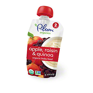 Plum Organics Stage 2 Baby Food, Apple Raisin & Quinoa, 3.5 oz
