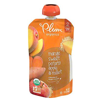 Plum Organics Stage 2 Sweet Potato Mango & Millet Baby Food, 3.5 oz