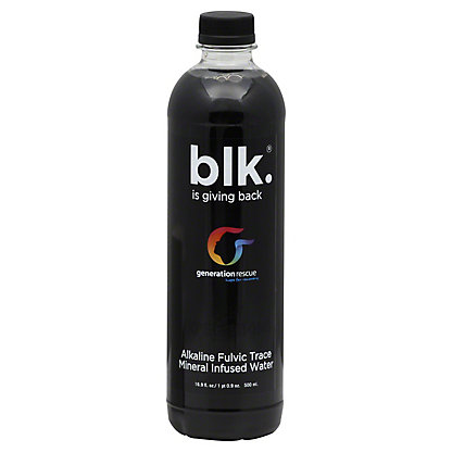 Blk Blk Mineral Infused Alkaline Fulvic Trace Water,16.9 OZ