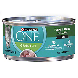 Purina One Grain Free Classic Turkey Recipe Premium Cat Food, 3 oz