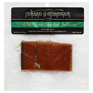 Gerard & Dominique Seafoods Wild Coho Smoked Salmon,4 OZ