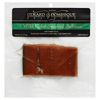 Gerard & Dominique Seafoods Wild Coho Smoked Salmon,4 OZ