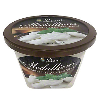 Lioni Medallions Mozzarella 'Slices',8 oz