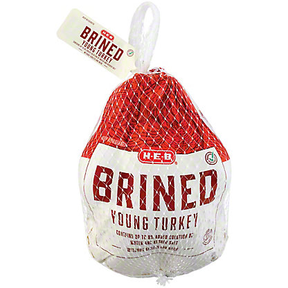 H-E-B Simply Seasoned Fresh Brined Young Turkey